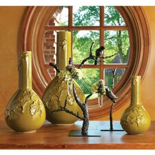 Gingko Crackle Vase