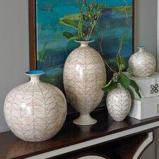 Brushed Leaf Egg Vase