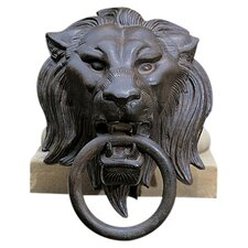 Lion Head with Ring Bust