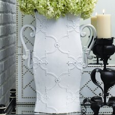 Pagoda Vase in French White