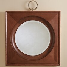 Ring Mirror in Dark Oak