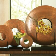 Disc Vase in Copper Plated Iron