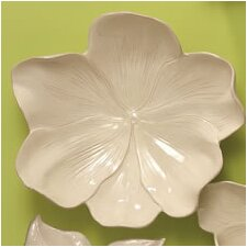 Magnolia Bowl Decorative Accent in Ivory