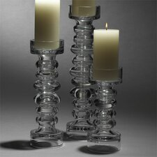 Glass Ribbed Candle Holder and Vase