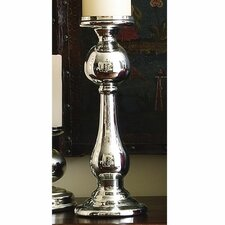 <strong>Global Views</strong> Britannia Mercury Glass Candle Holder