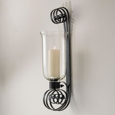 Grande Scroll Wall Hurricane Candle Holder