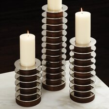 Stacked Plate Candle Holder