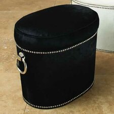 <strong>Global Views</strong> Angus Leather Ottoman