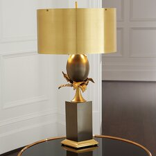 "Egg and Palm 37.5"" H Table Lamp with Drum Shade"