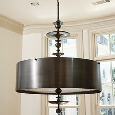 Turned 4 Light Drum Pendant Chandelier
