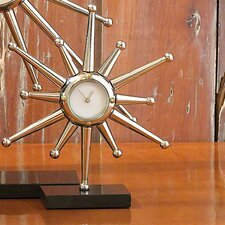 <strong>Global Views</strong> Star Mantel Tabletop Clock