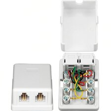 Two RJ-11 Surface Mount Box with Wiring