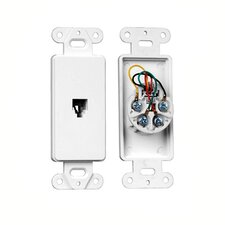 Single RJ-11/RJ14 Wall Plate Insert