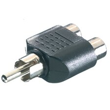 Vivanco RCA Male To Left Right RCA Female Adapter