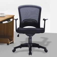 <strong>Manhattan Comfort</strong> Classic Low-Back Mesh Office Chair with Adjustable Height