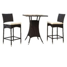 Delray 3 Piece Dining Set with Cushions