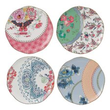 "Harlequin Butterfly Bloom 8.25"" Plate (Set of 4)"