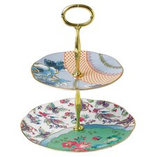Butterfly Bloom 2-Tier Gift Cake Stand
