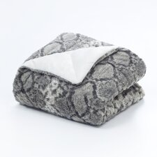 <strong>Vue by Ellery</strong> Snakeskin Polyester Throw Blanket