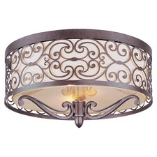 Genoa 2 Light Flush Mount in Umber Bronze
