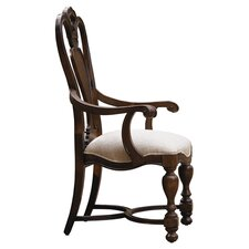 Bolero Arm Chair in Distressed Dark Brown