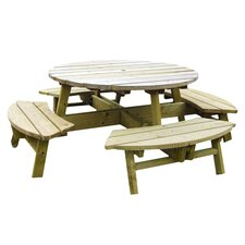 Rose Round Wood Picnic Table