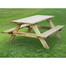 Katrina Rectangular Wood Picnic Table