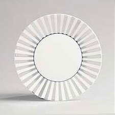 "Platinum Fine Bone China Striped 9"" Plate"