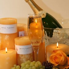 Champagne Scented Pillar Candle