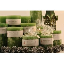 Bayberry Scented Pillar Candles (Set of 3)