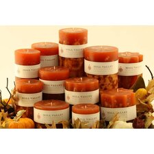 Pumpkin Spice Scented Pillar Candles (Set of 3)
