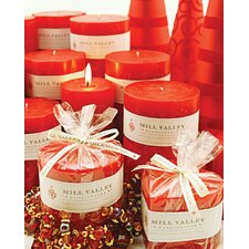 <strong>Mill Valley Candleworks</strong> Currant Scented Pillar Candles (Set of 3)