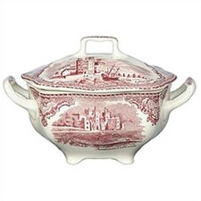 <strong>Johnson Brothers</strong> Old Britain Castles Pink Sugar Bowl with Lid