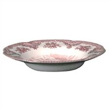 Old Britain Castles Pink Rim Soup Bowl