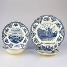 <strong>Johnson Brothers</strong> Old Britain Castles Blue 5 Piece Place Setting
