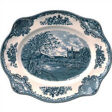 Old Britain Castles Blue Oval Platter