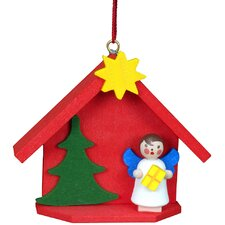 House with Angel Ornament