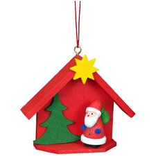 House with Santa Ornament