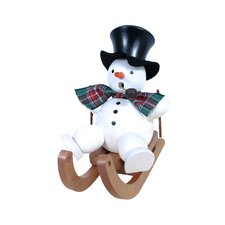 Snowman on Sled Incense Burner