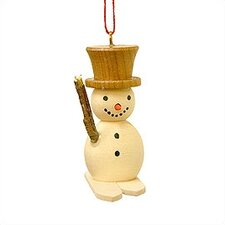 Snowman with Skies Ornament