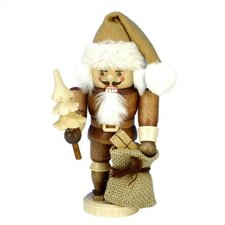 Brown Natural Wood Finish Santa Nutcracker