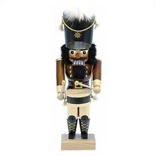 Natural Wood Finish Solider with Black Hat Nutcracker