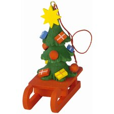 Chrismas Tree Sled Ornament