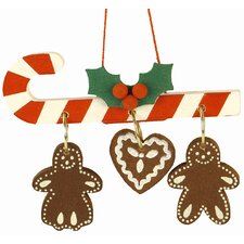 Candy Canes with Gingerbread Ornament