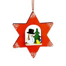 Snowman Star Ornament