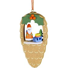 Santa Pinecone Ornament