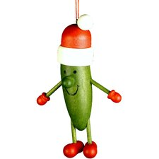 Pickle Santa Ornament