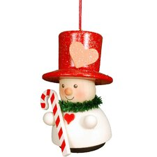Heart Man with Candy Cane Ornament