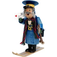 Postman with Skis Incense Burner