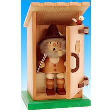 Man in Outhouse Incense Burner